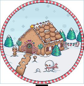 Christmas winter scene 2017