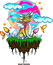 Pixel dragon scene