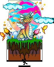 Pixel dragon scene by Heartsdesire-fantasy
