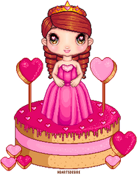 Sweet heart sugary sweet Doll Cake