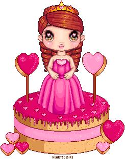 Sweet heart sugary sweet Doll Cake