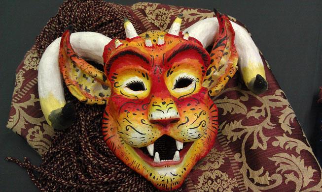Latex - Tiger Demon Mask