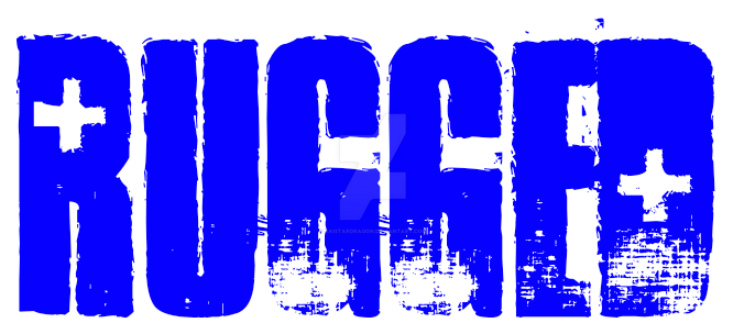 Rugged proto-type design logo signature by RaiStarDragon