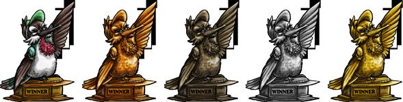 Demi Winner Trophy - FR Raffle Badges