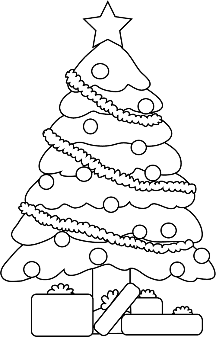 Line Drawing Christmas : Christmas tree lineart by cosmosflurry on deviantart