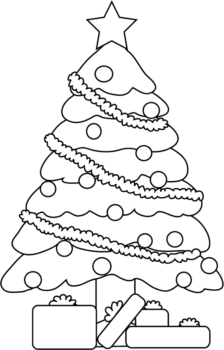 Line Art Xmas : Christmas tree lineart by cosmosflurry on deviantart