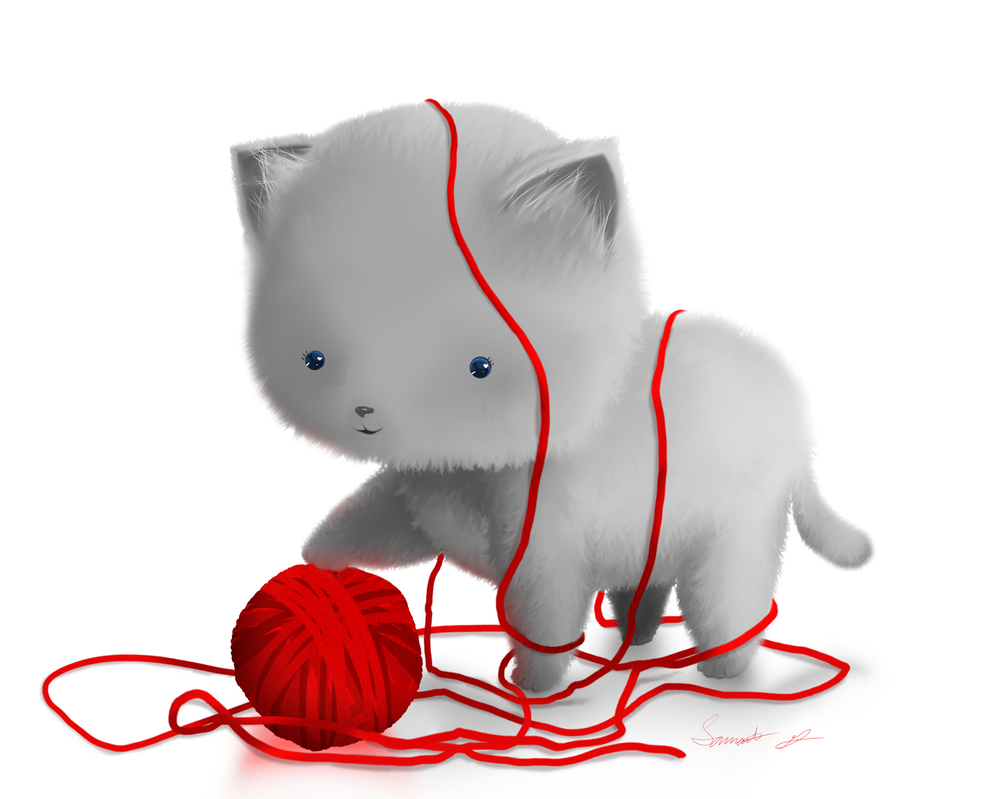 Image Result For Cats With Yarn