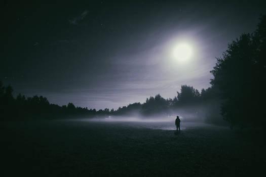 All alone...