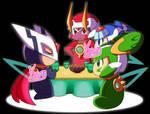 The Four Guardians Cyber-Elf Kotatsu by Kamira-Exe