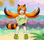 SRA Marine the Racoon Gijinka Remake by Kamira-Exe