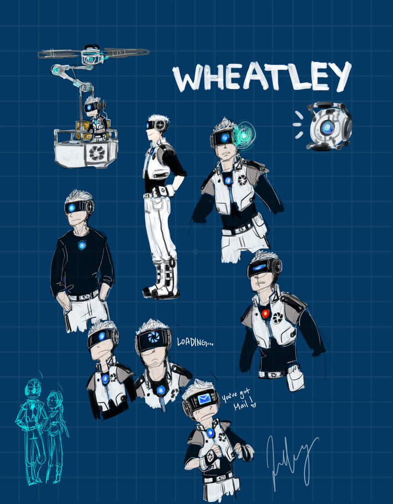 Portal2:Aperture Personality Android Wheatley by aerinsol