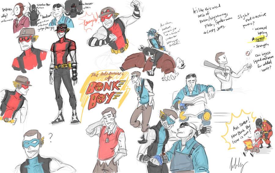TF2AUish: 'Bonk Boy Adventures' Dump by aerinsol