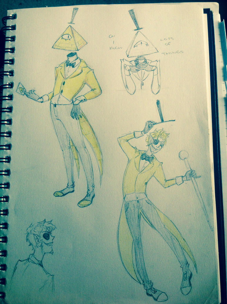 Bill cipher doodle page. by Chibi-MsHollowfox