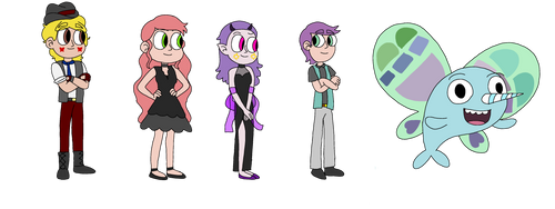 CCA Party Crashers Character Designs