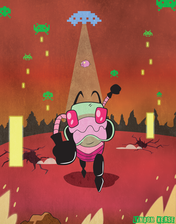 Space Invader Zim by Bloodhowl-Fangsworth