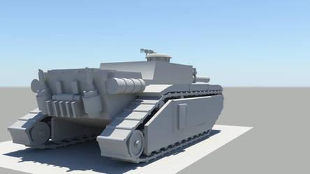 old WIP tank destroyer rear by larrynguyen0096