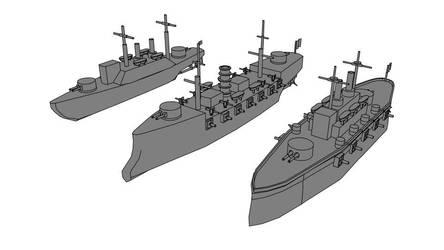 old WIP ironclad warships by larrynguyen0096