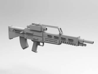 WIP bullpup rifle design front by larrynguyen0096