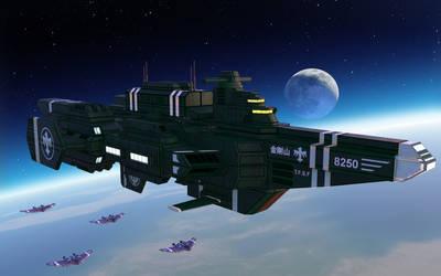 Federation Battlecruiser Kongo by larrynguyen0096