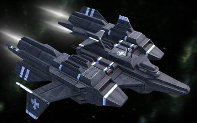 Federation Stealth Corvette Doolittle by larrynguyen0096