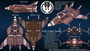 Terran Federation Heavy Corvette Mitchell Overview