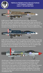 UCF F-81 Cosmo Trident Variants by larrynguyen0096