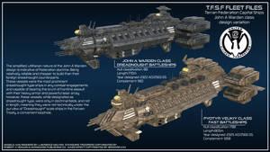 John A Warden class battleship variantions
