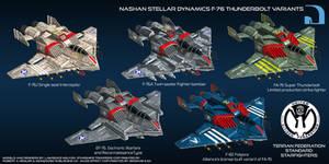 Nashan Stellar Dynamics F-76 Thunderbolt variants