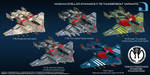 Nashan Stellar Dynamics F-76 Thunderbolt variants by larrynguyen0096