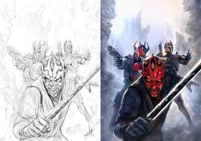 Darth Maul Son of Dathomir Variants by chrisscalf