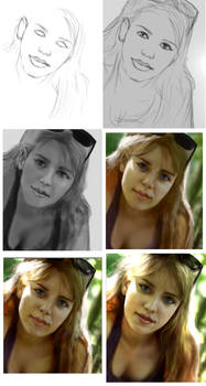 Photo real illustration exercise-stages.