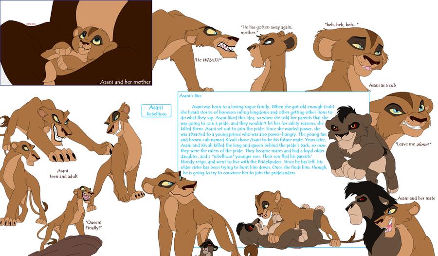 My Lion King Oc Asani By Sjsaberfan On Deviantart