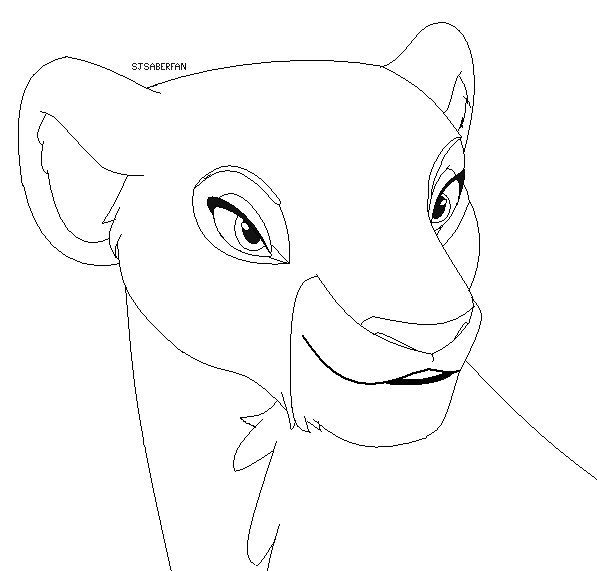Lion base beautiful lioness by sjsaberfan on deviantart for Lioness coloring pages