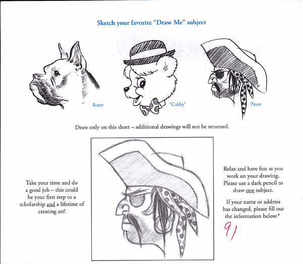 Scribble Drawing Quiz : Art instruction schools test by snusmc on deviantart