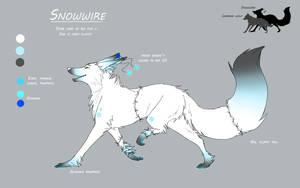 Ref - Snowwire +fursona+ by Snowwire