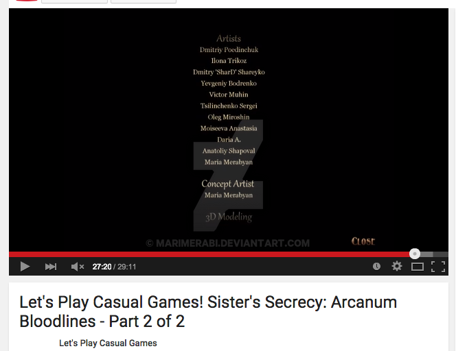 Sister's Secrecy: Arcanum Bloodlines credits by marimerabi