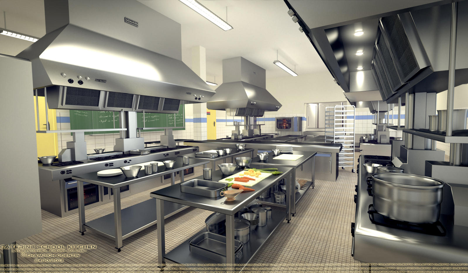 Superb Kitchen Of Catering School Escoffier By MrSvein872 Kitchen Of Catering  School Escoffier By MrSvein872