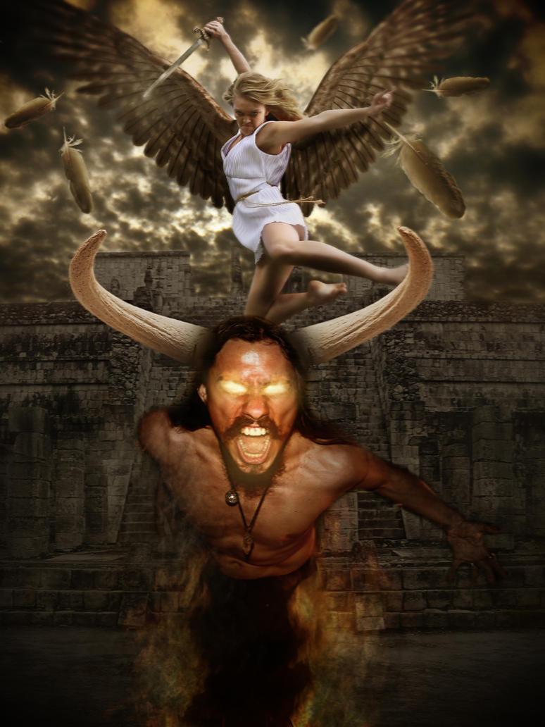 Angel vs Devil by Wolves-PSDAngel Warriors Vs Demons