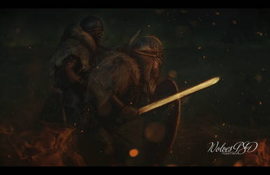 Battle of wurms from the vikings by Wolves-PSD