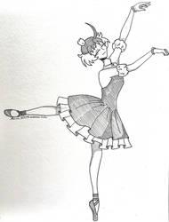 Ahiru ~ Princess TuTu ~ Inktober 2020