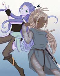 Nalyva and Valyan - Genasi Twins