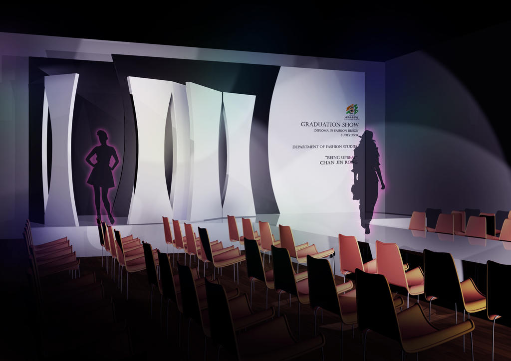 Fashion stage first day by ikhaka on deviantart - Fashion show stage design architecture plans ...