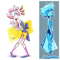 Steven Universe - Pearls by JuneDuck21