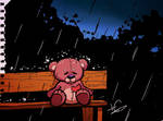 Lost, lonely teddy