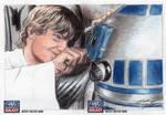 Star Wars G7 - Luke and R2-D2 Sketch Art Card 2pc