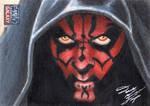 Star Wars G7 - Darth Maul Sketch Art Card