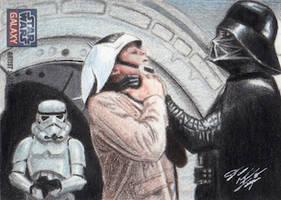 Star Wars G7 - Darth Vader Sketch Art Card by DenaeFrazierStudios