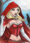 Grimm Fairy Tales-Red Riding Hood Sketch Art Card
