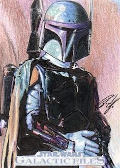 Star Wars GF - Boba Fett Sketch Card by DenaeFrazierStudios