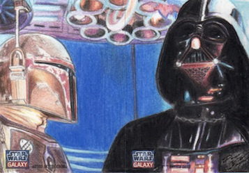 Star Wars G7 - Boba Fett and Darth Vader (2pc) by DenaeFrazierStudios